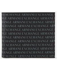 Armani Exchange Cartera Hombre - Negro