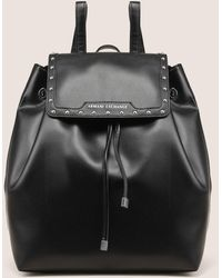 Armani Exchange - Studded Faux-leather Backpack - Lyst