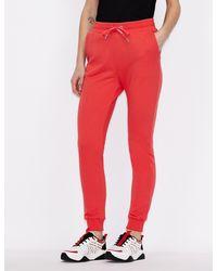 Armani Exchange Pantalones deportivos de algodón orgánico - Rojo
