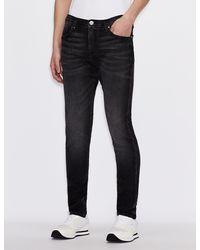 Armani Exchange Five-Pocket-Super-Skinny-Jeans J33 - Grau
