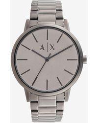 Armani Exchange Reloj de acero inoxidable de tres agujas en bronce - Gris