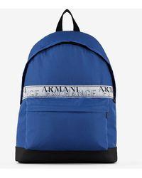 Armani Exchange Canvas Backpack - Blue