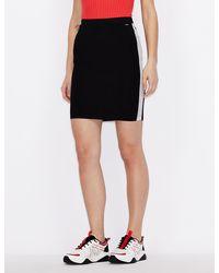 Armani Exchange Glitter Skirt - Black
