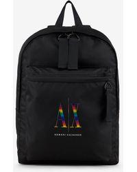 Armani Exchange - Zaino con logo multicolor - Lyst