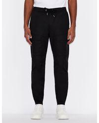 Armani Exchange Cargo Pants - Black