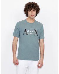 Armani Exchange Logo T-shirt - Grey