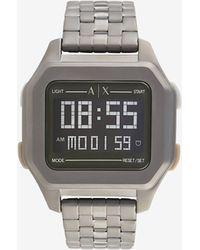 Armani Exchange Reloj digital de acero inoxidable gunmetal - Gris