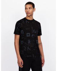 Armani Exchange Camiseta regular fit - Negro