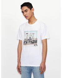 Armani Exchange Camiseta gráfica - Blanco
