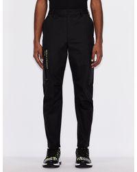 Armani Exchange Cotton And Nylon Pants - Black