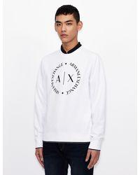 Armani Exchange Crew Neck Logo Sweatshirt White