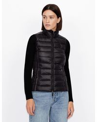 Armani Exchange - Packable Padded Vest - Lyst