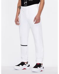 Armani Exchange Pantalones deportivos con detalles en contraste - Blanco