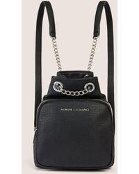 bfbb184fd6 Armani Exchange - Chain Detail Mini Bucket Backpack - Lyst