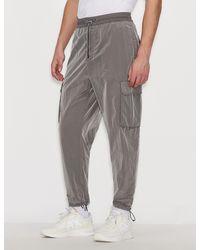 Armani Exchange Nylon Ripstop Pants - Gray