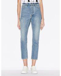 Armani Exchange J51 Five-pocket Carrot-fit Jeans - Blue