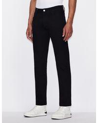 Armani Exchange Pantalones cinco bolsillos J16 corte recto - Negro