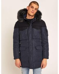 Armani Exchange - Faux Fur-lined Hooded Long Parka - Lyst