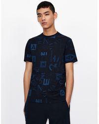 Armani Exchange Camiseta regular fit - Azul