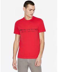 Armani Exchange Camiseta regular fit - Rojo