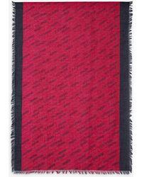 Armani Exchange Two-tone Headscarf - Red