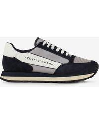 Armani Exchange Ledersneaker - Blau