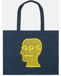 A.P.C. X Brain Dead Shopping Bag - Blue