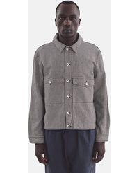 YMC Pinkley Jacket (hickory Stripe) - Blue