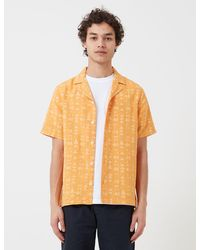 Folk Folk Soft Collar Shirt (tile Print) - Orange