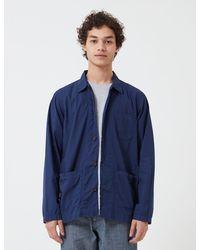 Universal Works Baker Overshirt (poplin) - Blue