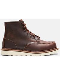 "Red Wing 6"" Moc Toe Boot (leather) - Brown"