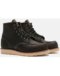 """Red Wing Heritage 6"""" Moc Toe Work Boots (8890) - Gray"""