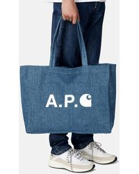 A.P.C. X Carhartt Alan Shopping Bag - Blue