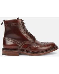 Grenson Triple Welt Fred Boot - Brown