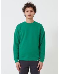 Norse Projects Vagn Classic Crew Sweatshirt (445gsm Cotton) - Green
