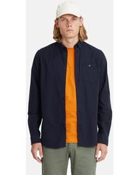 Norse Projects Anton Brushed Flannel Shirt - Blue