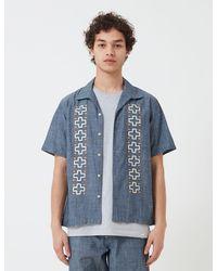 Universal Works Open Collar Shirt (chambray) - Blue