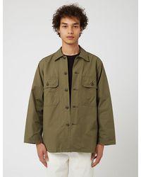 Orslow Trooper Fatigue Shirt - Green