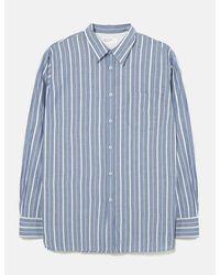 Universal Works New Standard Stripe Shirt (indigo Chambray) - Blue