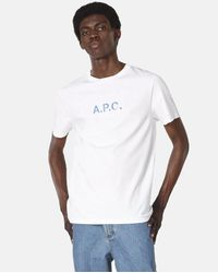 A.P.C. Stamp T-shirt (organic Cotton) - White