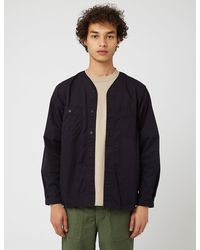 Orslow No Collar Shirt - Blue