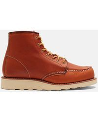 """Red Wing Heritage Work 6"""" Moc Toe Boots - Brown"""