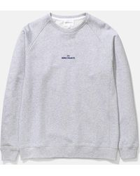 Norse Projects Ketel Wave Logo Sweatshirt - Grey