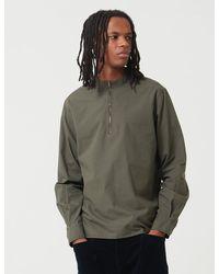 Bleu De Paname Biaude 1/4 Zip Shirt - Green