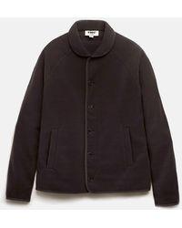 YMC Beach Jacket (fleece) - Black