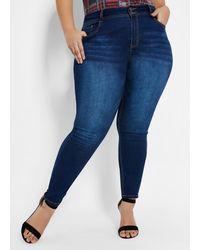 Ashley Stewart Plus Size Fearless Skinny Jean - Blue
