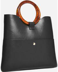 Ashley Stewart Vegan Leather Mini Tote - Black