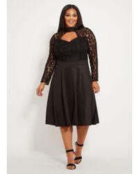 75134f834f8 Old Navy · Ashley Stewart - Plus Size Lace Skater Dress - Lyst