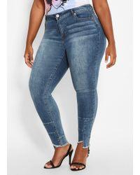 04203b8a5c1 Lyst - Ashley Stewart Plus Size Belted Wide Leg Gaucho Jean in Blue