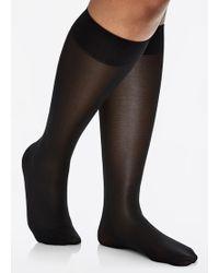 5cb72cf8f Ashley Stewart - Opaque Support Graduated Compression Trouser Sock - Lyst